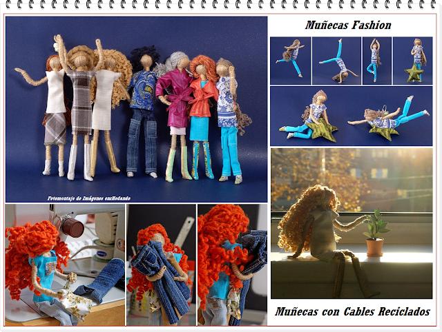 Como hacer Muñecas Fashion de Cables Viejos