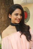 Rakul Preet Singh in lovely Pink Crop Top and Black Trousers at Jaya Janaki Nayaka success meet 012.JPG