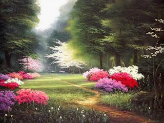 paisajes-primaverales-con-flores-cuadros
