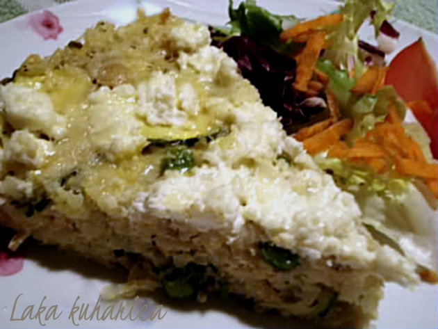 "Parmesan risotto cake by Laka kuharica: ideal savory ""cake"" for the office lunch bag."