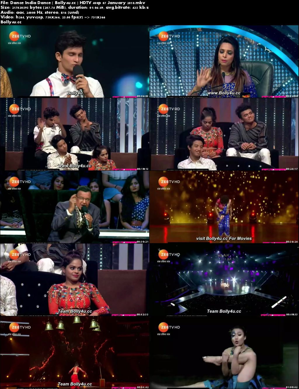Dance India Dance HDTV 200MB 480p 07 January 2018 Download
