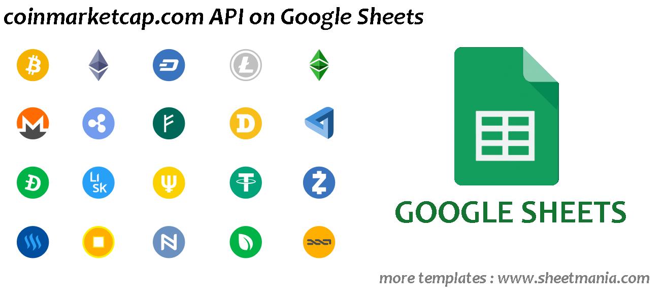 Coinmarketcap com API on Google Sheets with dashboard