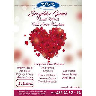 sevgililer günü canlı müzik programları ankara