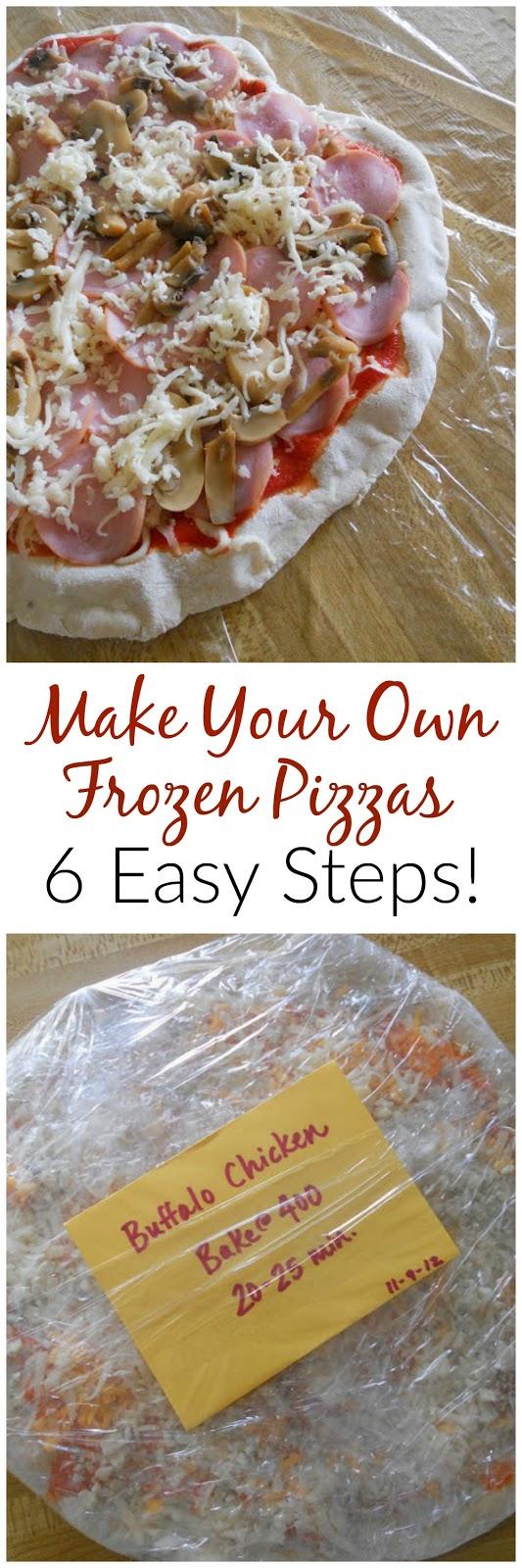 make your own frozen pizzas (sweetandsavoryfood.com)