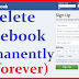 Delete Facebook Account Permanently now