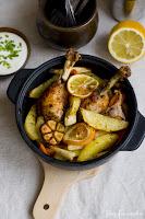 (Kurczak pieczony z warzywami
