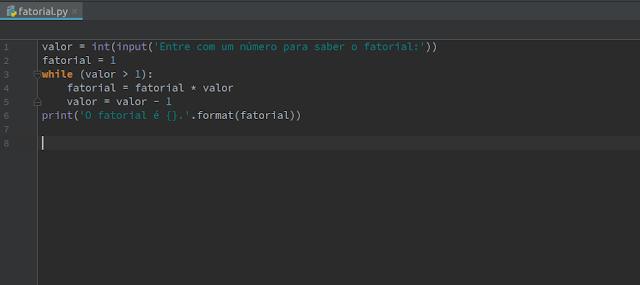 Script Python fatorial