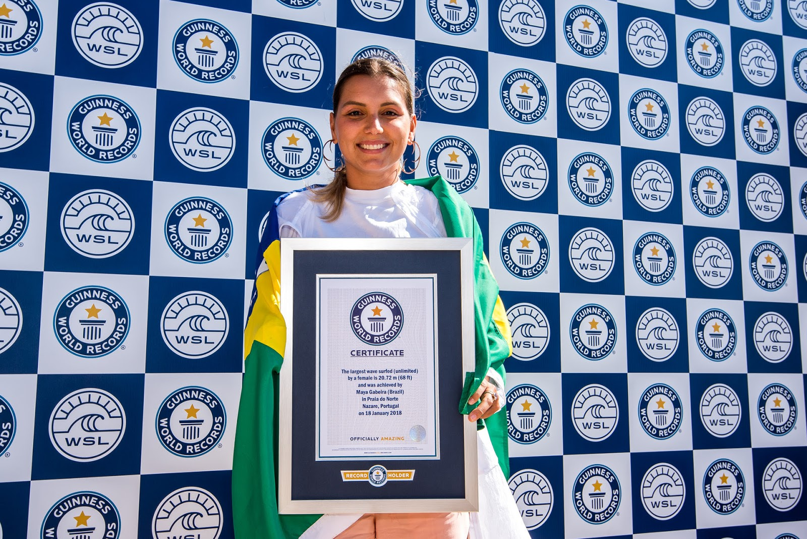 Congratulations Maya Gaberia - GUINNESS WORLD RECORDS Largest Wave Surfed by a Woman