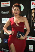 Natasha Nebasha in a Leg Slit Sleeveless Stunning Red Gown at IIFA Utsavam Awards 2017 079.JPG