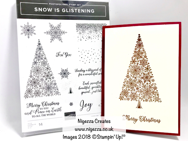 Snow is Glistening Christmas Card #5 Nigezza Creates