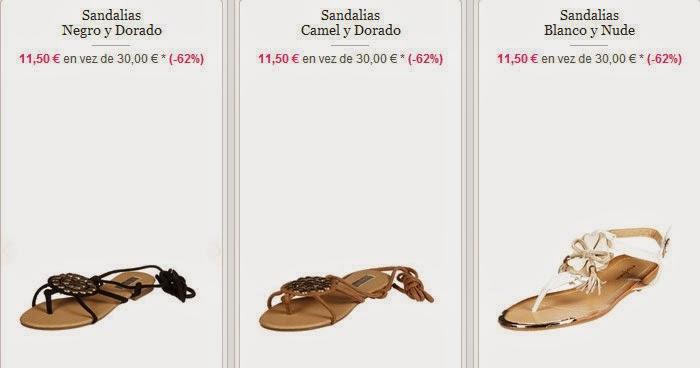 Sandalias planas muy baratas