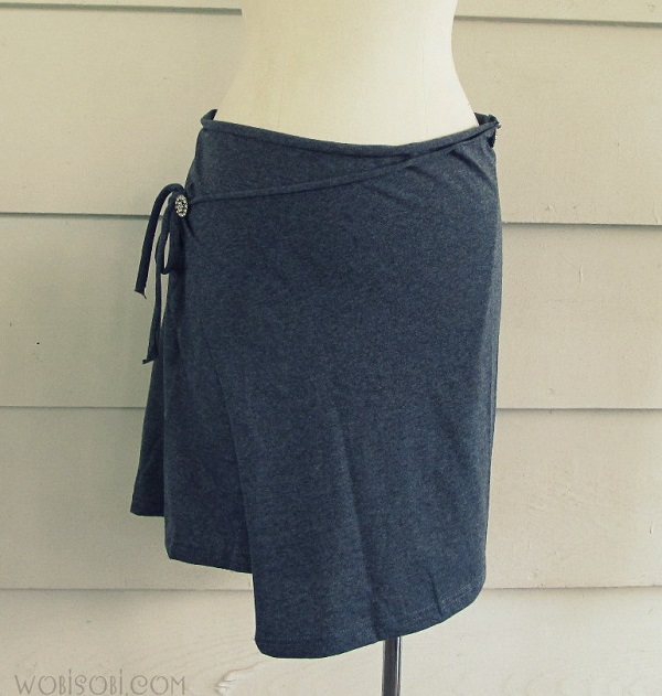 DIY Wrap Skirt from a Tshirt