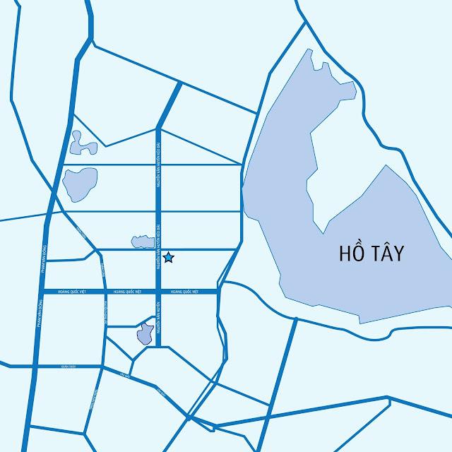 Vị trí chung cư Bắc Hà Tây Hồ Tây.
