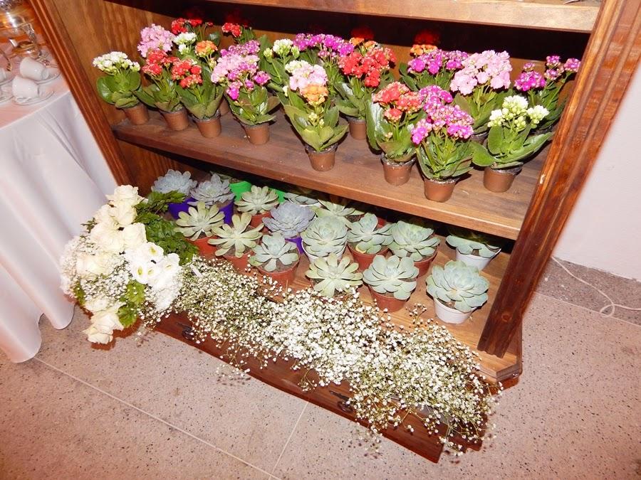 lembranças de casamento com flores