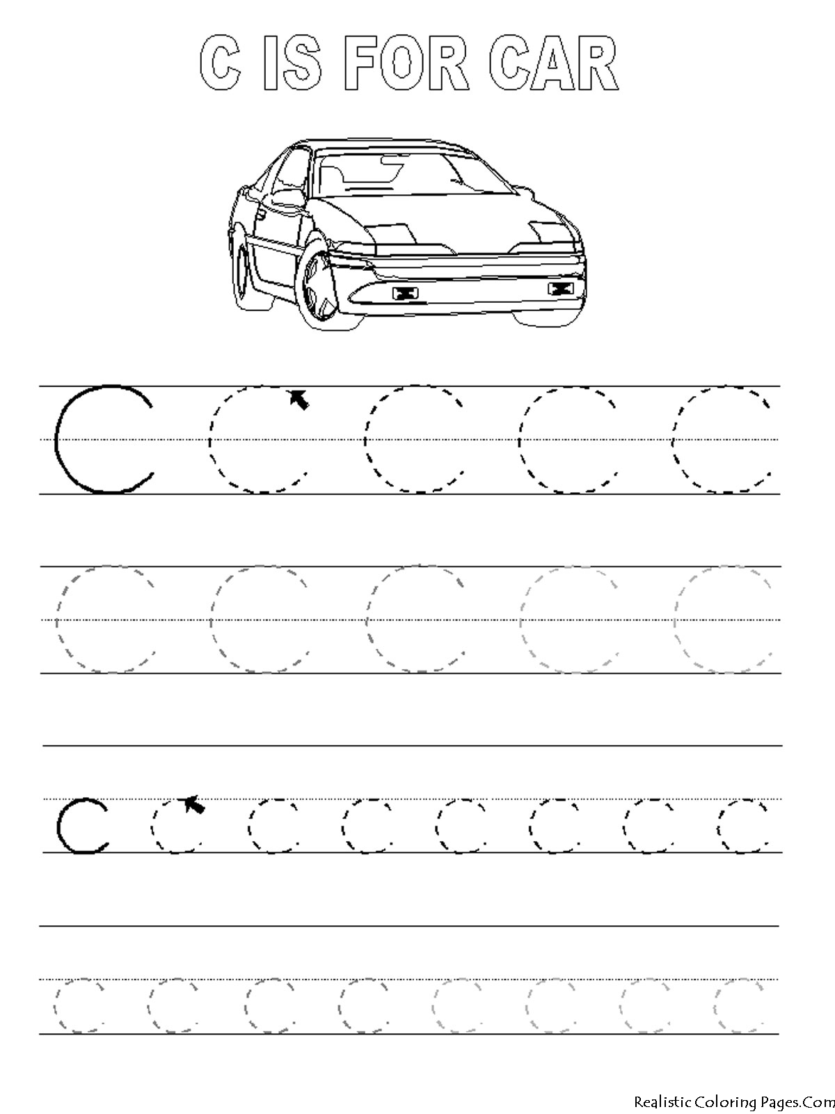 coloring pages letters c printable realistic this is