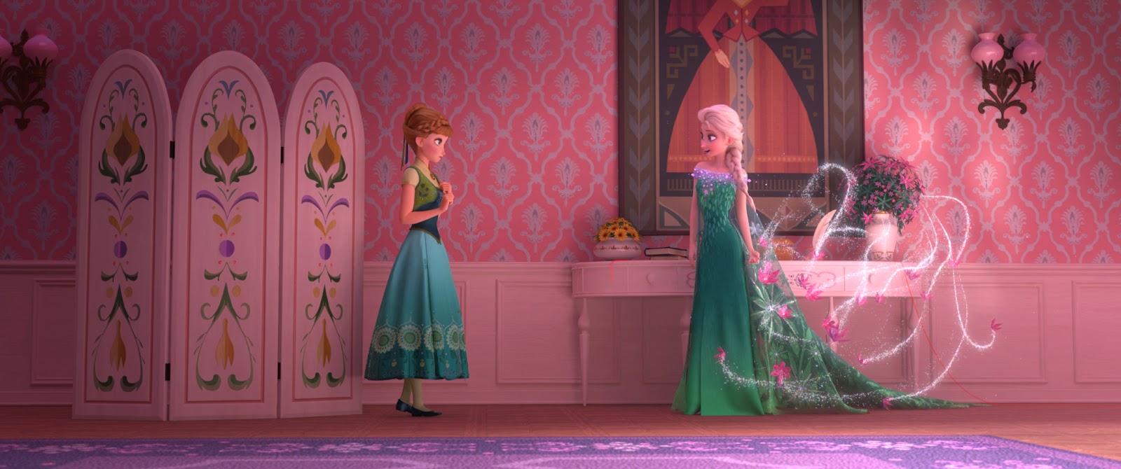 Cena de Frozen Ferver, Ana e Elsa