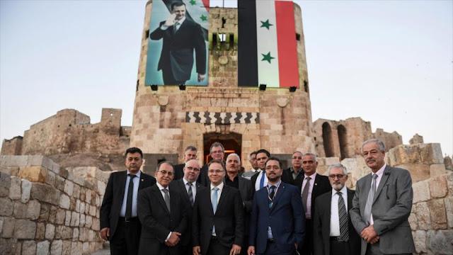 Delegación alemana visita Alepo tras su liberación de terroristas