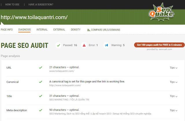 5 bước kiểm định SEO Onpage cho 1 website bởi toilaquantri.com