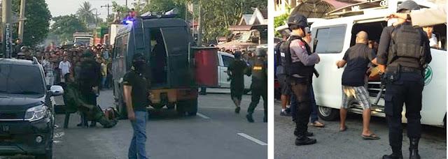 Proses penangkapan tersangka teroris di wilayah Asahan dan Tanjungbalai.