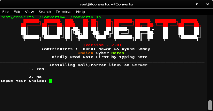 Converto : Installing Kali Linux on VPS Server