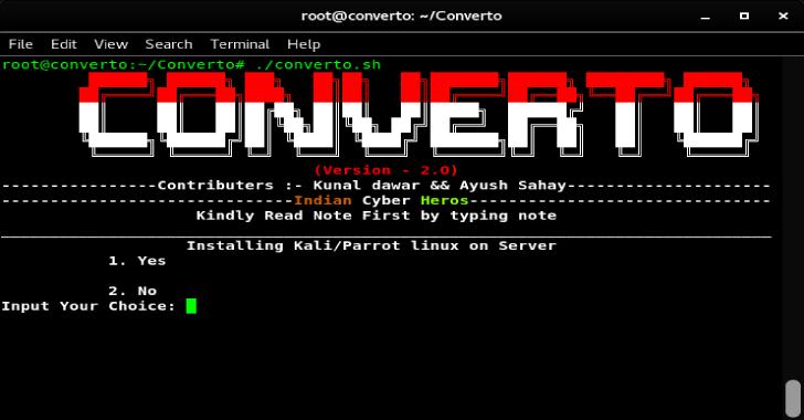 Converto : Installing Kali Linux on VPS Server