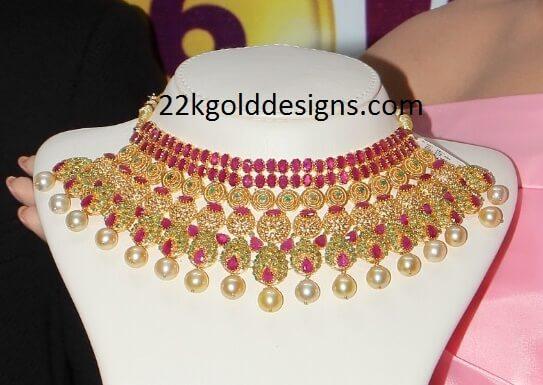 Bridal Uncut Ruby Necklace