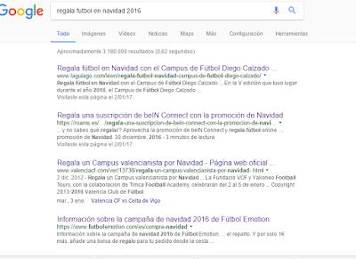 Regala futbol búsqueda google