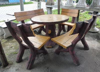 set kursi taman unik