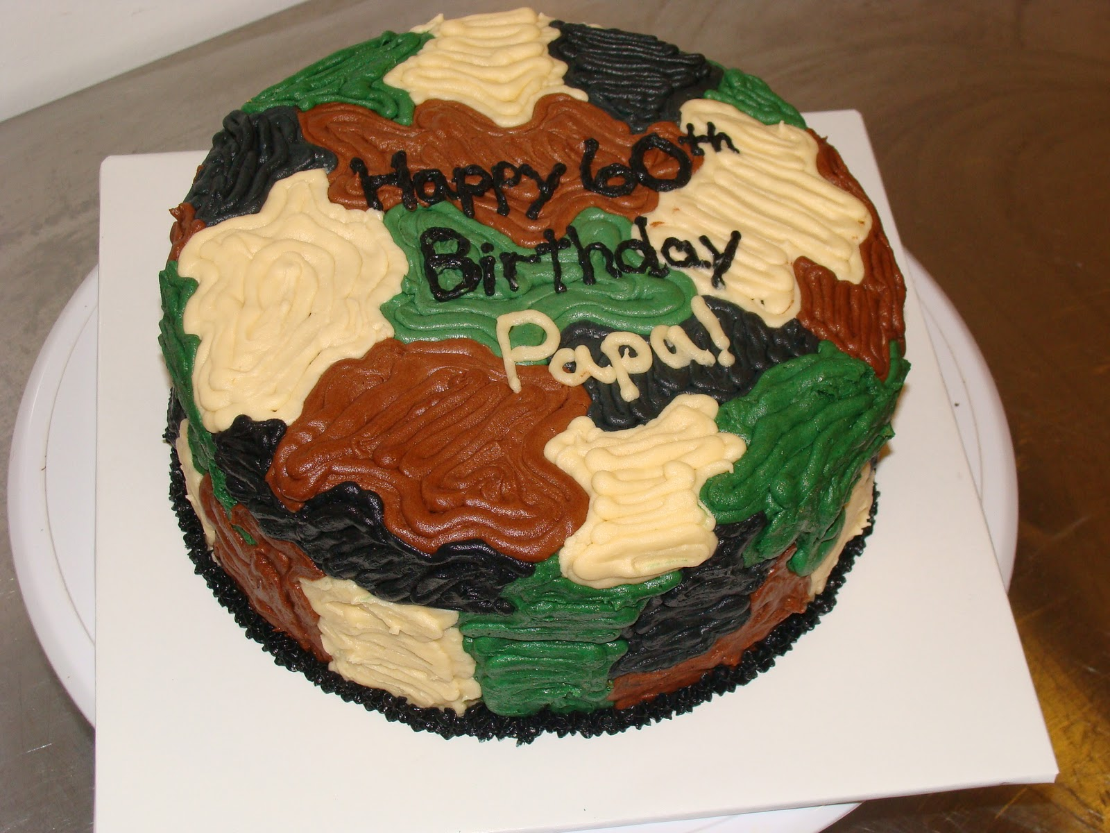 Door County Custom Cakes And Cookies Camouflage Cake For