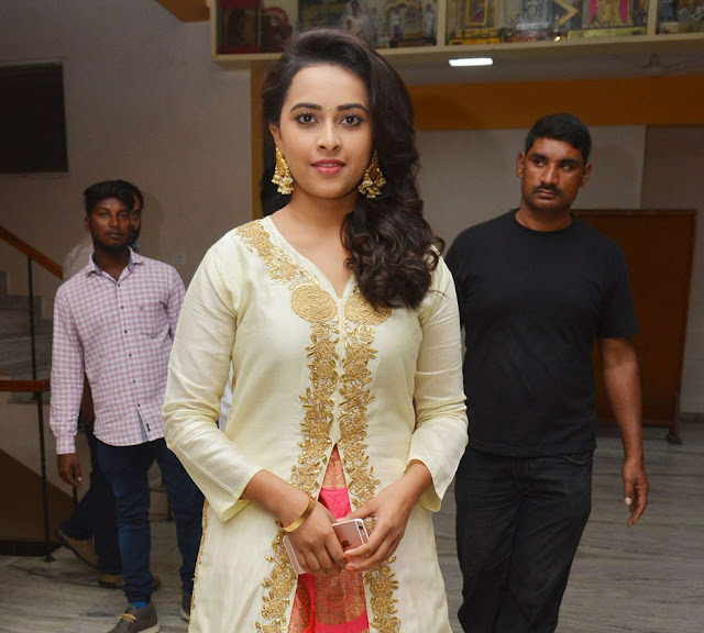Actress Sri Divya at Kaashmora Telugu Audio Launch