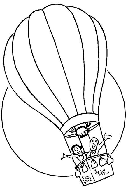 Gambar Mewarnai Balon Udara - 3