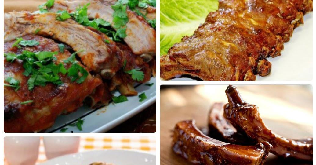 Свиные ребрышки в маринаде в духовке рецепты 41