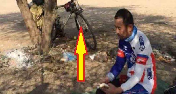 Luar Biasa !....Jarak 8.150 KM di Lalui Pria Ini Dengan Menggunakan Sepeda. Apakah Yang Dia Cari