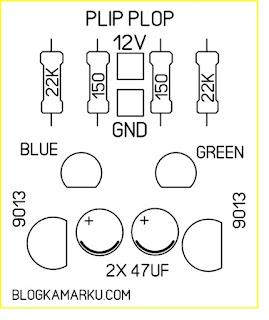 rangkaian lampu led kedap kedip – PLIP PLOP