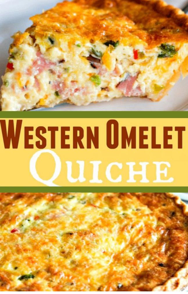 Western Omelet Quiche #omelet #dinner