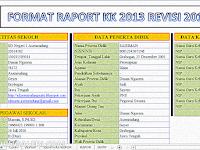 Aplikasi Raport SD Kurikulum 2013 Hasil Revisi Terbaru 2016