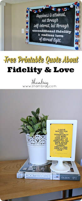 Free Printable Quote About Love, Fidelity, & Chastity