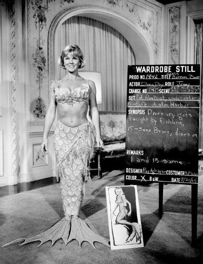 Doris Day in Wardrobe Still for Ray Aghayan Costume  The Glass Bottom Boat 1966