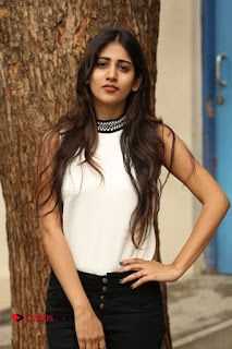 Actress Chandini Chowdary Pictures in Black Denim Jeans at Kundanapu Bomma Telugu Movie Press Meet  0037.JPG