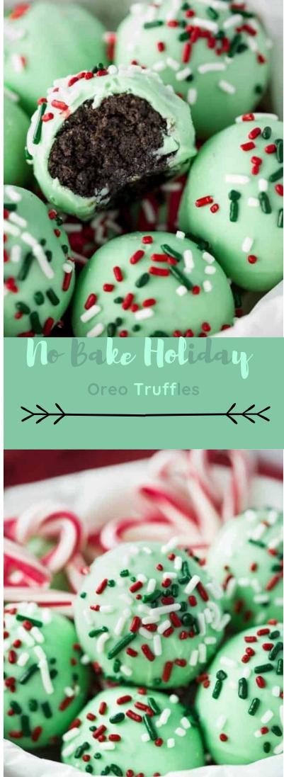 No Bake Holiday Oreo Truffles #oreo