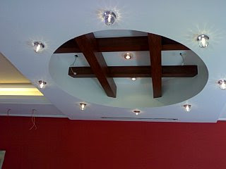 decoration platre plafond moderne  2014