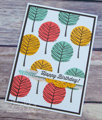 Birthday card featuring Totally Trees from Stampin' Up! UK Buy Stampin' Up! UK here