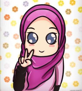 kartun islami, gambar kartun muslimah lucu