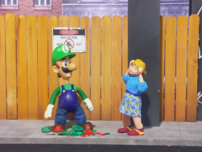 Mario and Luigi in Vice City Robot Chicken killed murder turtle claymation