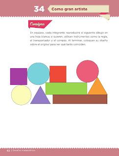 Apoyo Primaria Desafíos Matemáticos 4to. Grado Bloque II Lección 34 Como gran artista