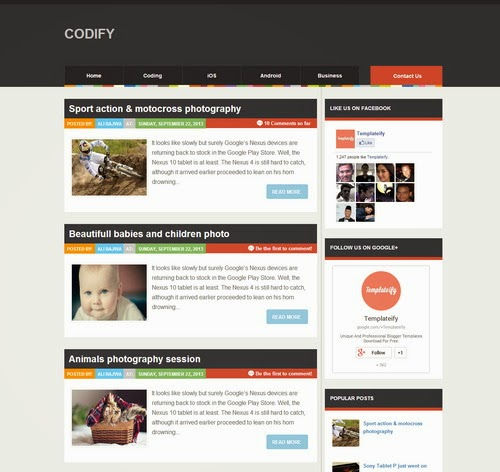 Codify Magazine Blogger Template