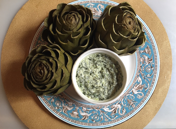 artichoke and creamy spinach dip