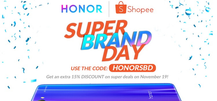 Score Great Deals on Honor Smartphones with Shopee's Super Brand Day Sale