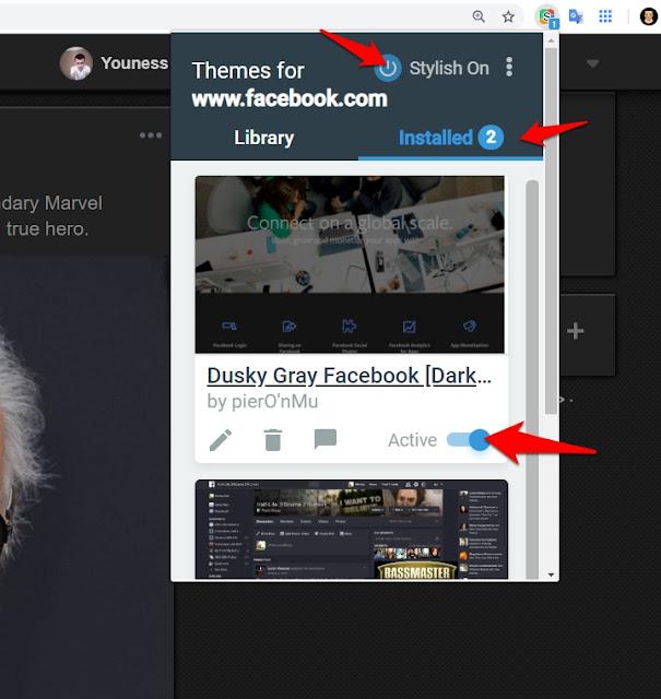 إضافة Stylish لتغيير ستايل الفيس بوك بسهولة
