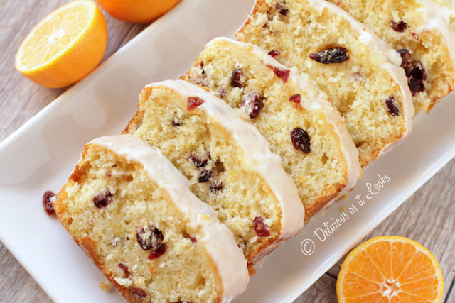 Low-FODMAP Iced Orange-Cranberry Bread {Gluten-Free, Gum-Free}  /  Delicious as it Looks